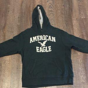 American Eagle Large Green Hoodie